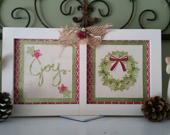 Christmas Joy Picture with Embellishments