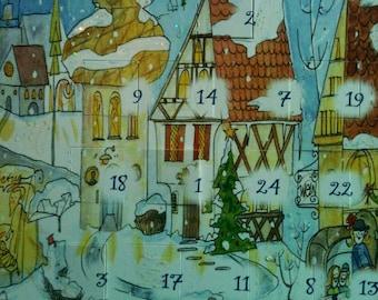 Advent Calendar German Market