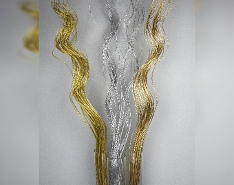 Curly Twigs/Branches/Centerpiece decor/ Winter wonderland/Decoration Branches/Gold Branches/Glitter Branches/Silver Branches