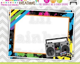 389 Food Labels: Totally Awesome 80's Candy or Buffet Labels - Instant Downloadable File