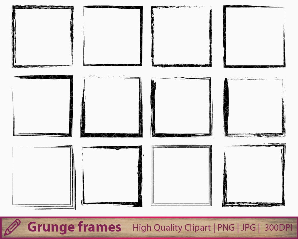Grunge frame clipart distressed square frame clip art zoom jeuxipadfo Gallery