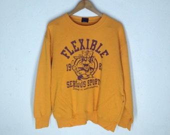 Vintage FROWN OF LANGUAGE Sweatshirts Size 2L