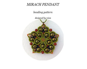 Mirach Pendant - Beading PatternTutorial - PDF file for personal use only