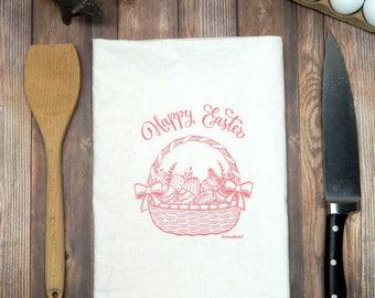 Happy Easter Tea Towel