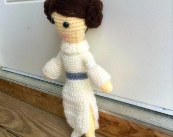 Crochet Star Wars Doll - leia doll-Girls Kids Toy Dolls - Amigurumi Dolls - Baby Gift - Kids Gift- Girls Gift