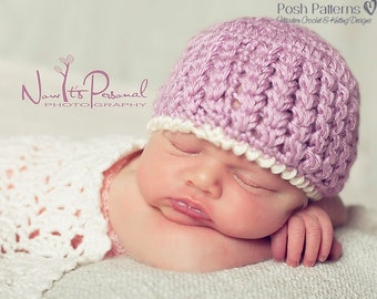 Crochet Pattern - Crochet Hat Pattern - Crochet Baby Hat - DIY Crochet Patterns - Baby to Adult Sizes - Instant Download PDF 304