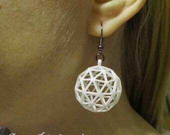 3D printed Icosphere RE Earrings