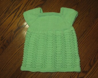 Light Green Newborn Lace Dress