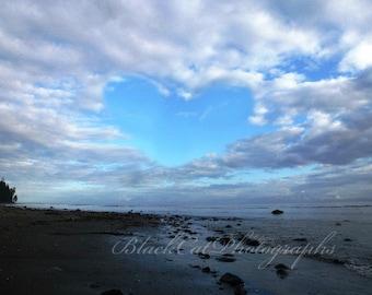 Heart Photo Print Love Decor Romantic Valentine Wall Decor Beach Art Beach Photography Landscape Photography Seaside Decor Pacific Northwest