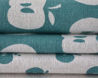 APPLES hand printed fabric quarter