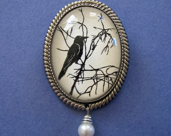 FOR the LOVE of CROWS #1 Brooch - Silhouette Jewelry