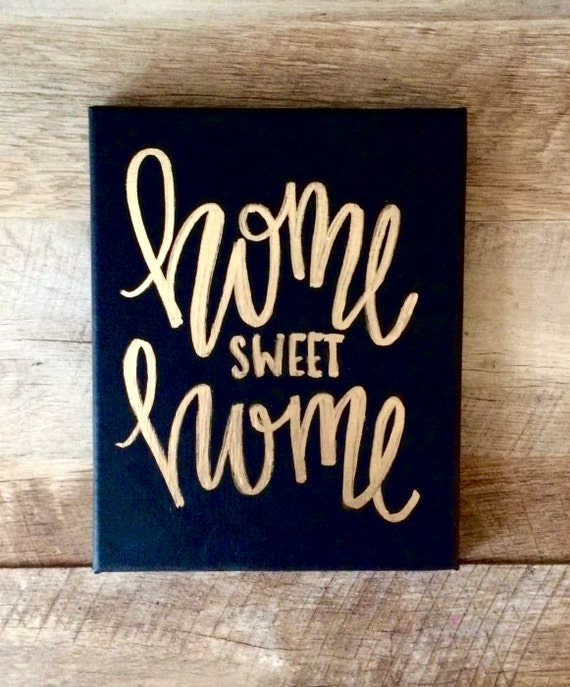 Top Home sweet home 8x10 mini canvas quotes on canvas home DN42