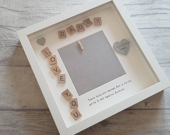 Fathers Day Personalised Gift - Fathers Day Scrabble Photo Frame - Love you Daddy