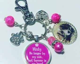 Dog bereavement keychain, pet memory gift, pet memory keychain, dog lover, bereavement keyring, photo keyring, dog photo keychain