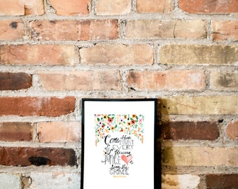 Come Thou Fount Print