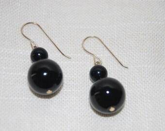 Black Onix Earrings Dangling