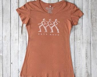 WALK MORE Bamboo/ Organic Cotton T shirt  for Women by Uni-T