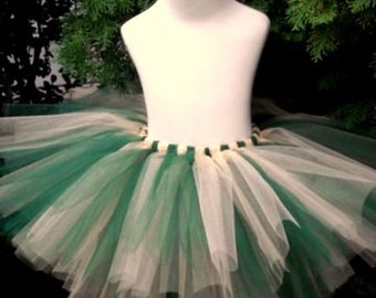 Emerald Green and Shimmer Gold Adult Tutu RTS Small 10 inches