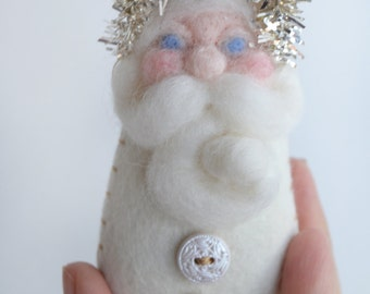 Santa Ornament - Vintage Ornament - Christmas Ornament - Vintage Santa