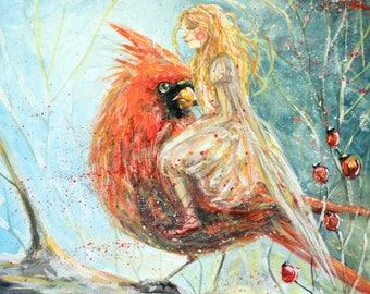 Cardinal Fairy A4 PRINT