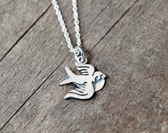 Swallow pendant sterling silver / 925 / chain / nature / bird