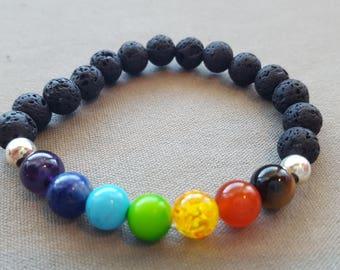 Chakra diffuser bracelet