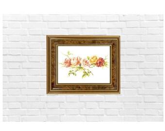 Vintage Rose, Instant Download, Digital Print, Printable Wall Art