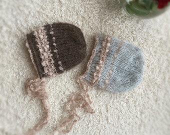 Newborn photo prop bonnets, newborn bonnet, newborn props , newborn prop,photography props, newborn hat, baby props, newborn girl props