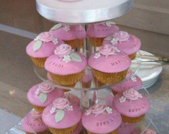 3/4/5/6/7 Tier Clear Round Acrylic Cup Cake Stand, Cup Cake Tower, Cup Cake Display, Cupcake Stand