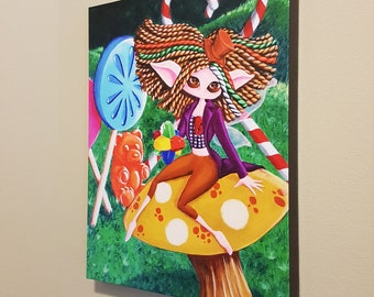 "Pure Imagination – 16x20"" Repro on Canvas - Inspired by Willy Wonka and Gene Wilder - MuseArt"