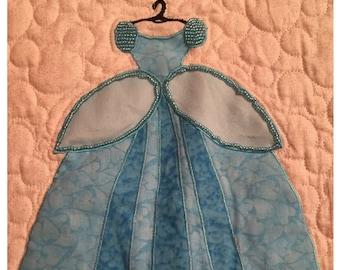Disney Princess Cinderella Dress Applique Pattern - Inspired by Disney's Cinderella