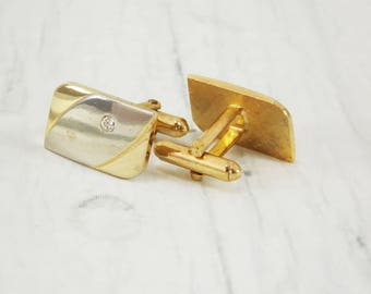 Old fashion gold cufflinks crystal jewelry accessory wedding Metal cufflinks fathers day gold Mens jewelry wedding cufflinks groom cufflinks