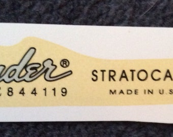 Strat decals silver made in USA