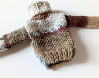 Aknitted sweater for custom Blythe doll outfit Blythe doll clothes Handmade for custom doll dress