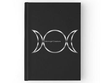 Hard Cover Journal, Triple Goddess Symbol Book