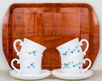 Arcopal France Cup and saucers Veronica set of four (4)
