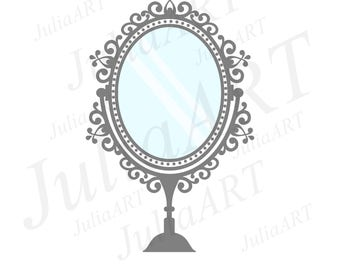 cartoon vintage mirror vector image
