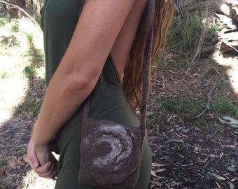 Hand made Felted bag