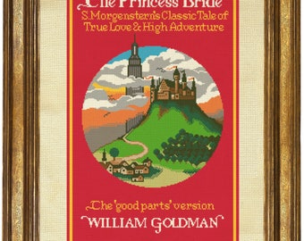 The Princess Bride Cross Stitch Pattern // First Edition Book Cover Design