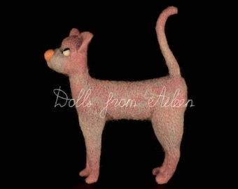 "OOAK Needle Felted Cat ""Ernie"" by Dolls from Aileen"