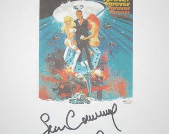 Diamonds Are Forever Signed Film Movie Script Screenplay James Bond 007 autographs Sean Connery Lois Maxwell signature classic bond film