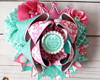 Daddy's little girl double stacked boutique bow - hair bows - girls bows - girls fashion - bows