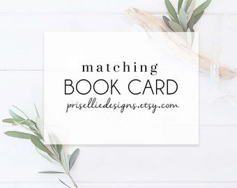 Matching Book Cards, Baby Shower Book Cards | PrisellieDesigns