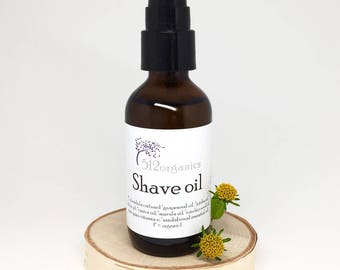 Shave oil - lubricating, softening, nourishing