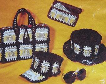 Crochet pattern Beer Can Hat, Billfold, Purse PDF