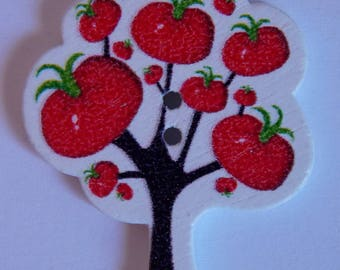 Button tree tomato red fruit scrapbooking