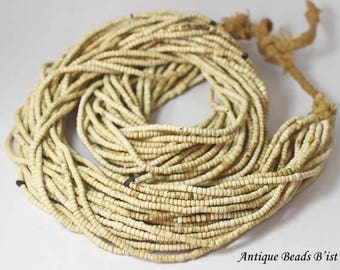 Antique venetia antique look white small beads necklace(32 lines)【 free shipping】【HB17033】