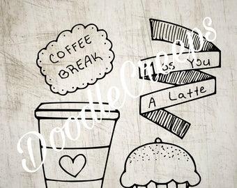 Coffee Break Digital Stamp Set