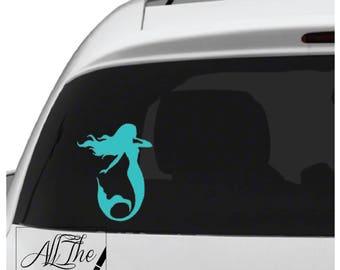 Mermaid decal - Mermaid Sticker - Beach Decal - Mermaid Laptop Sticker - Mermaid