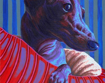 Pop Pet Portrait - custom acrylic original painting on canvas